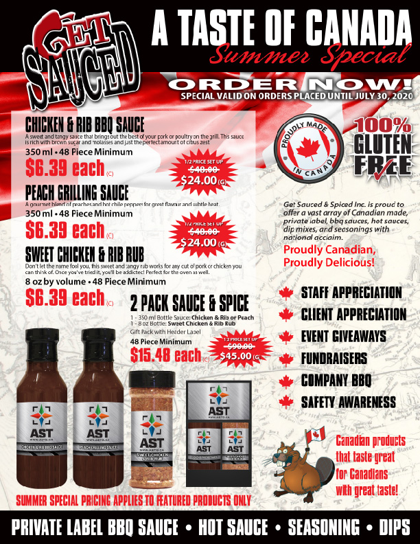 Get Sauced Logo'd Spices and Barbeque Sauces